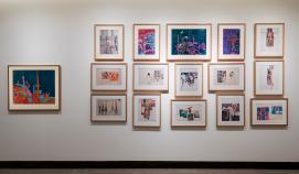 Left to right: K.G. Subramanyan (1924 - 2016)   Untitled   Circa late 1960s   Mixed media and collage on paper, K.G. Subramanyan (1924 - 2016)   Untitled (Markers series)   1967/68  Marker pen on paper  (15 works)
