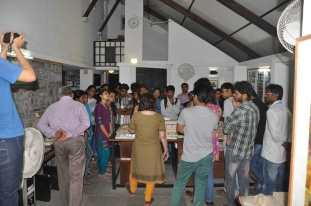 Exhibitions in the double volume common studio space