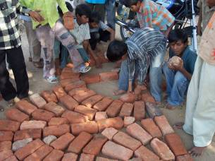 Making paving with children