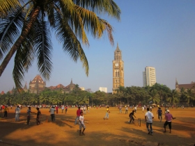 Playing cricket at the Oval Maidan: the intuitive sense of space in India works with a fine understanding of tolerances in that space