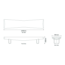 Drawings for 'Sit' - a bench by Rubberband