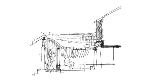 Spatial Explorations: Sectional Sketch