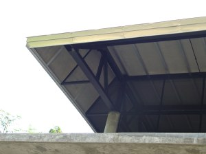 Metal roof edge detail
