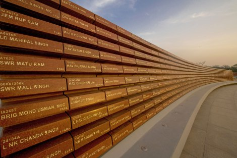 Inscribed names of the martyrs. © Government of India