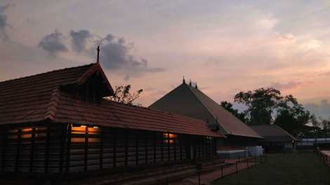 Dusk at The Vadakkunnathan Temple Precinct