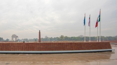 View of the Memorial Complex in relation to the India Gate. ©Maniyarasan