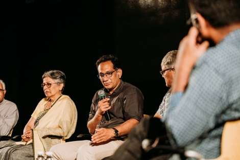 Riyaz Tayyibji of Anthill Design Studio in conversation with the panel.
