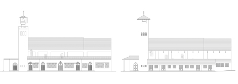 East Elevation of the church: Before & After restoration